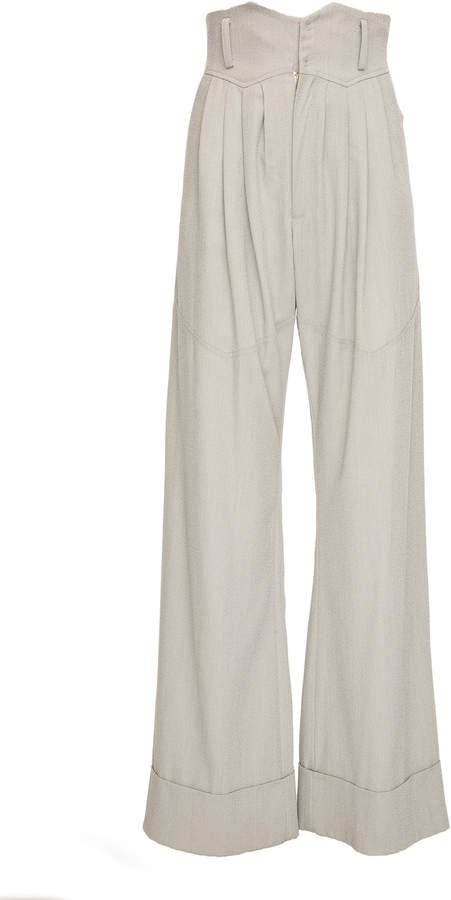 SITUATIONIST High-Rise Wool Wide-Leg Pants