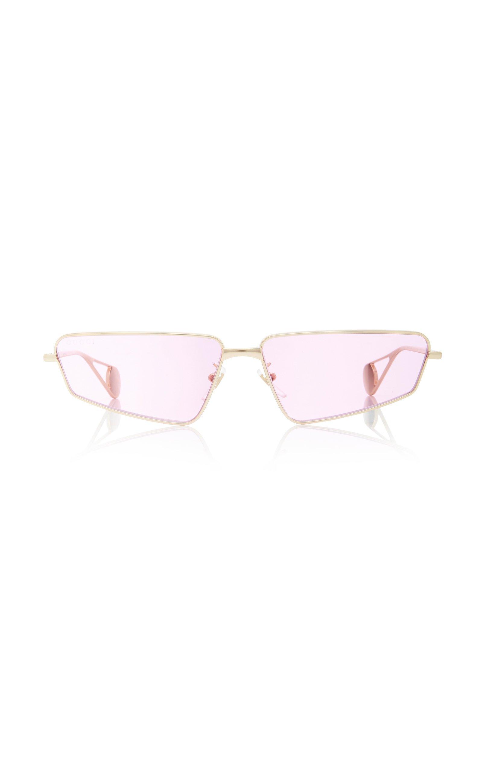 Gucci FS Evolution Square-Frame Metal Sunglasses