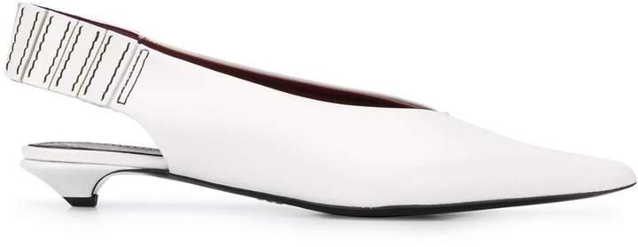slingback low heel pumps