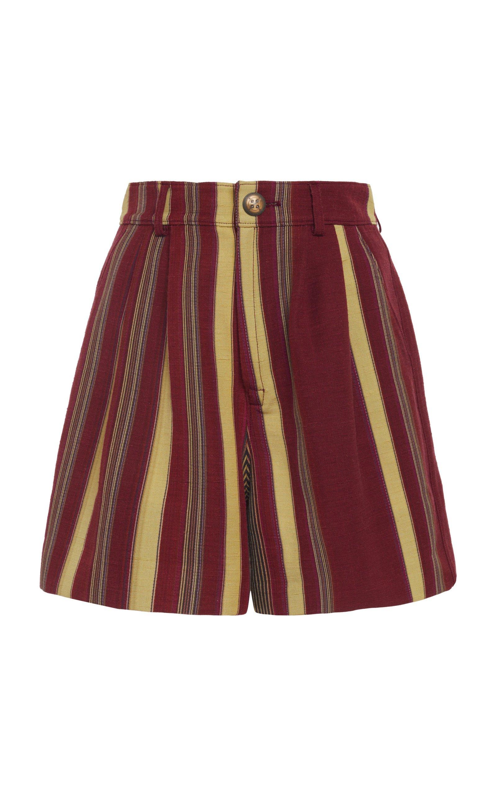 Etro Striped Silk-Blend Shorts Size: 42