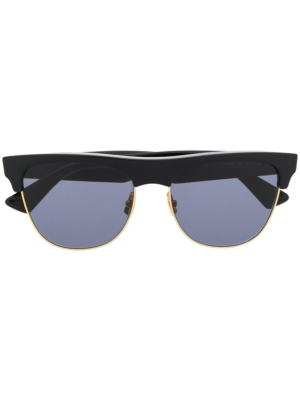 Bottega Veneta Eyewear Round Frame Sunglasses - Farfetch