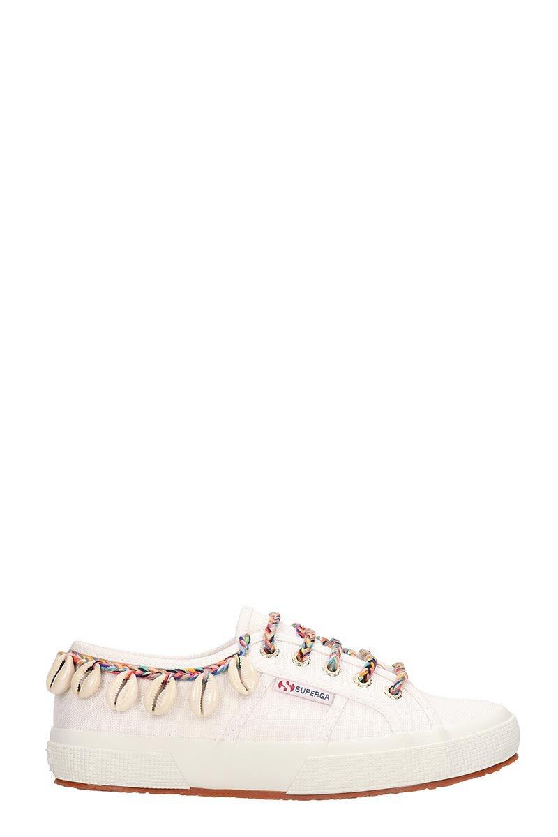 Alanui Superga X Alanui Collaboration White Canvas Sneakers