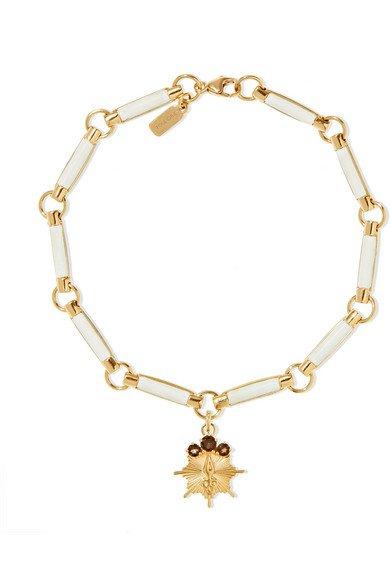 Foundrae | 18-karat gold, wood and topaz bracelet | NET-A-PORTER.COM