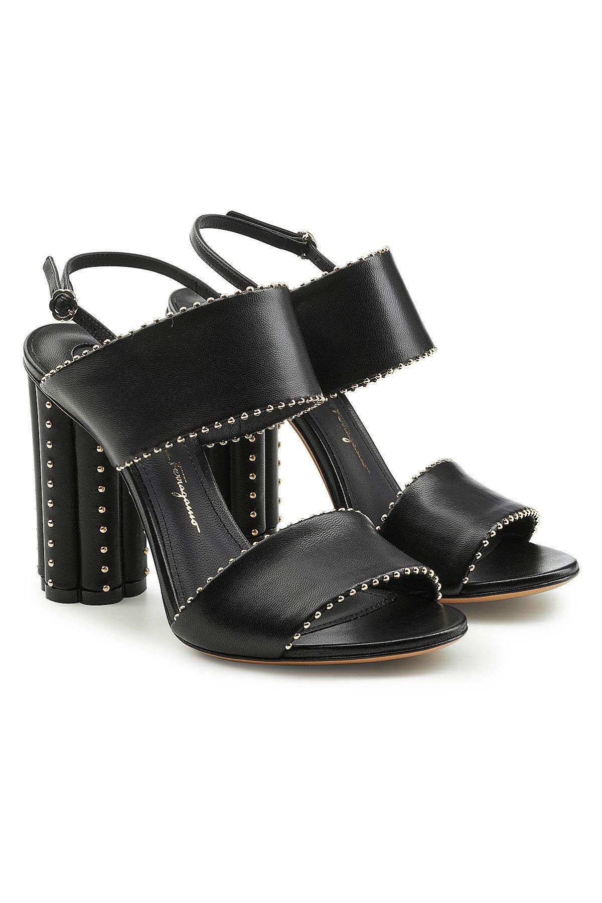 Capri Embellished Leather Sandals Gr. US 9