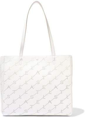Perforated Faux Leather Tote