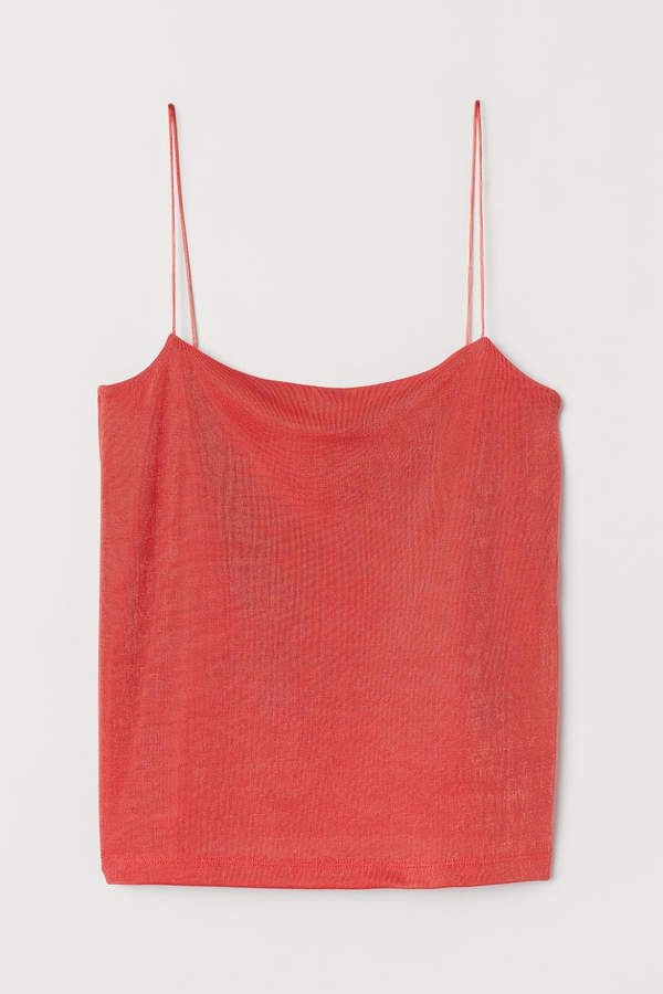 Camisole Top with a Sheen - Red