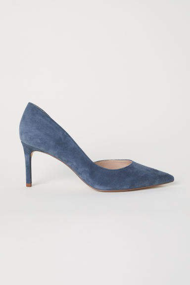 Pumps with Pointed Toes - Gray