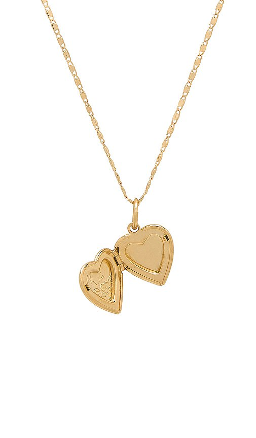 Vanessa Mooney The Heart Locket Necklace in Gold | REVOLVE