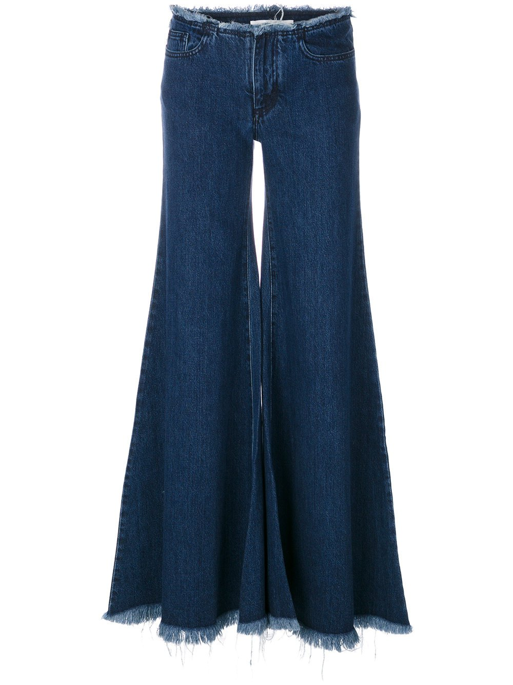 MARQUES'ALMEIDA flared wide-leg jeans | Farfetch