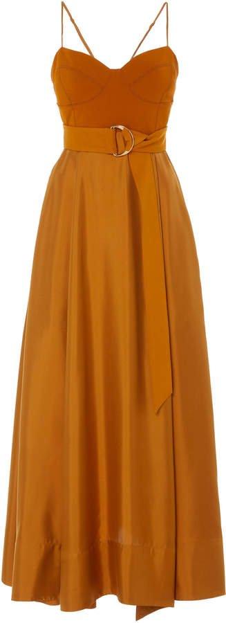Tempest Belted Silk Dress