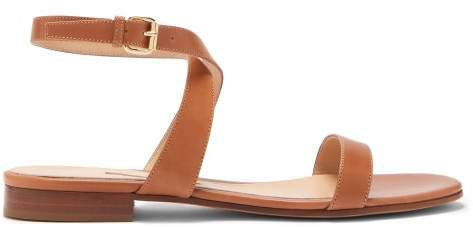 Siena Ankle Strap Leather Sandals - Womens - Tan