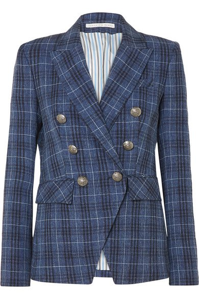 Veronica Beard | Miller Dickey checked wool-blend blazer | NET-A-PORTER.COM