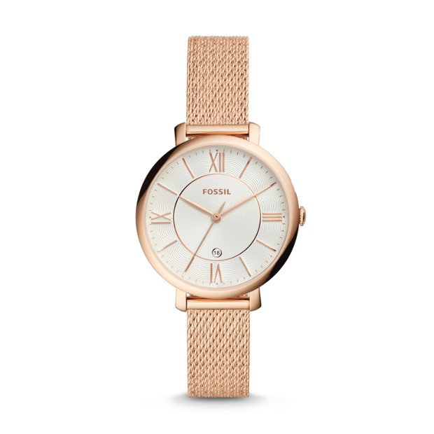 Jacqueline Three-Hand Rose Gold-Tone Stainless Steel Watch - Fossil