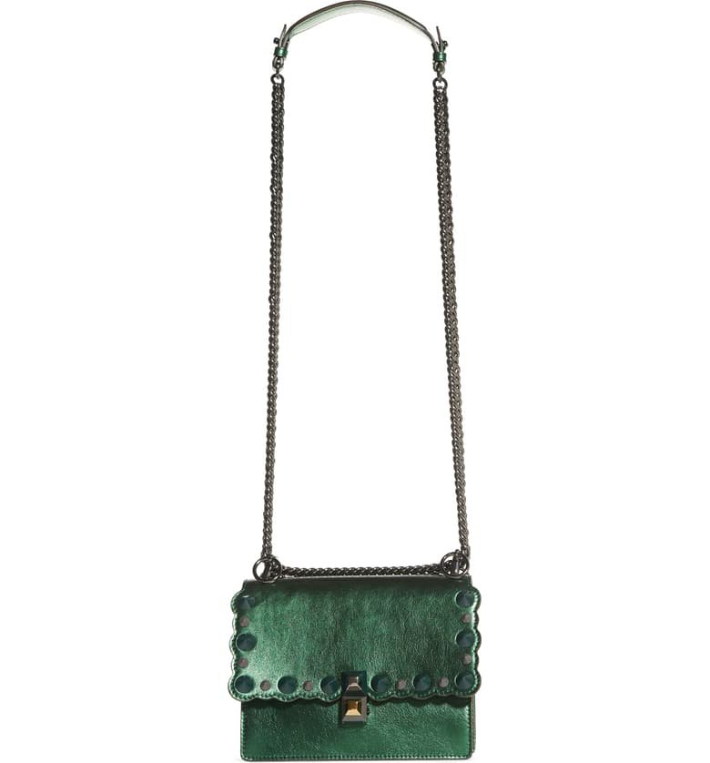 Fendi Small Kan I Metallic Leather Shoulder Bag | Nordstrom