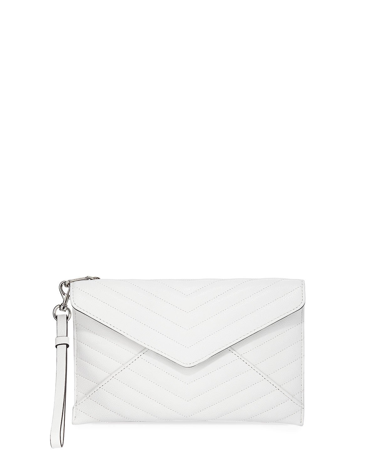 Rebecca Minkoff Leo Quilted Leather Wristlet Clutch