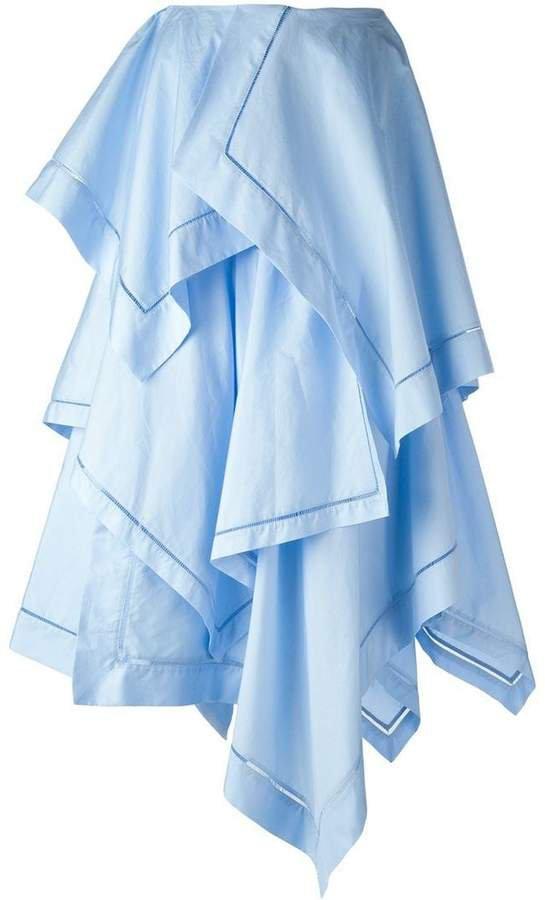 paneled layer maxi skirt