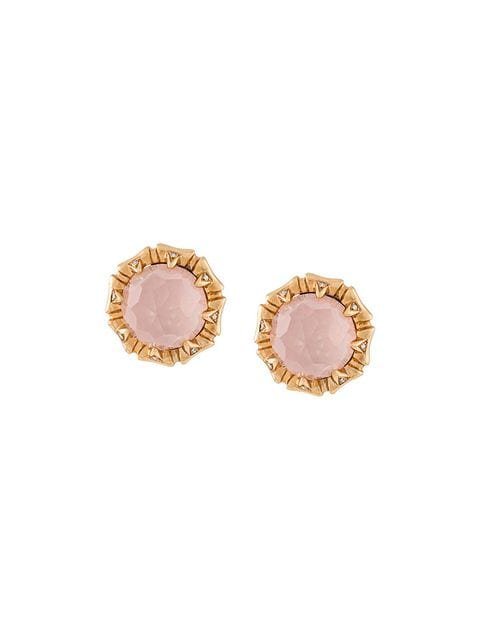 Stephen Webster 18kt rose gold, opal and diamond stud earrings