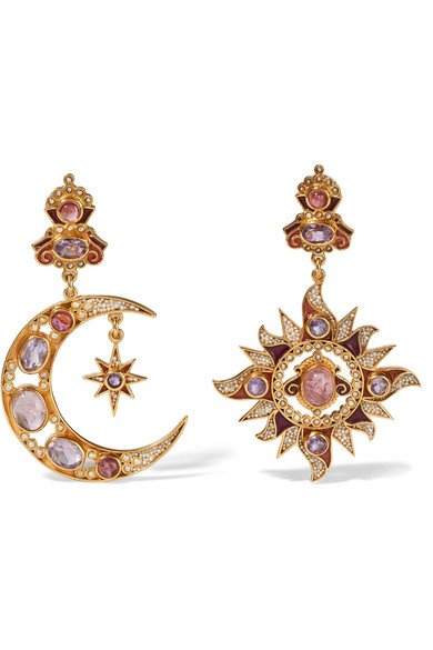 Percossi Papi | gold-plated multi-stone earrings