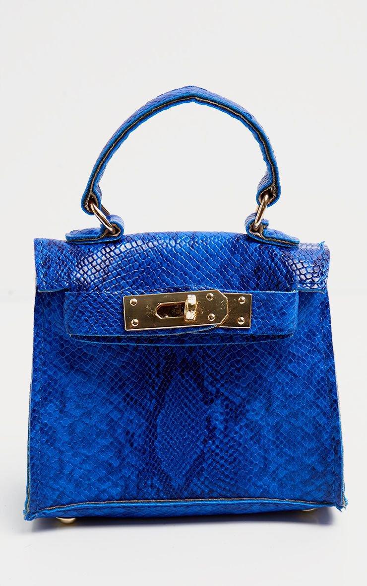 Blue Snake Print Mini Bag | Accessories | PrettyLittleThing