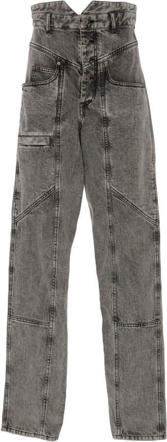 Roger High-Rise Straight-Leg Jeans