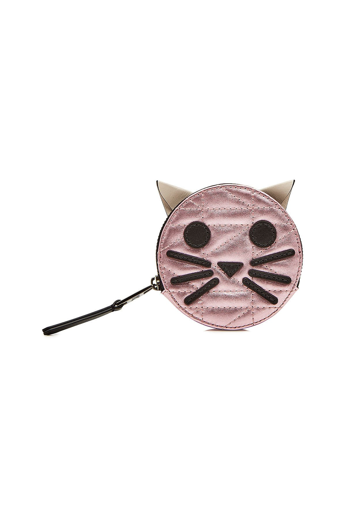 K/Kuilted Pink Cat Leather Coin Purse Gr. One Size