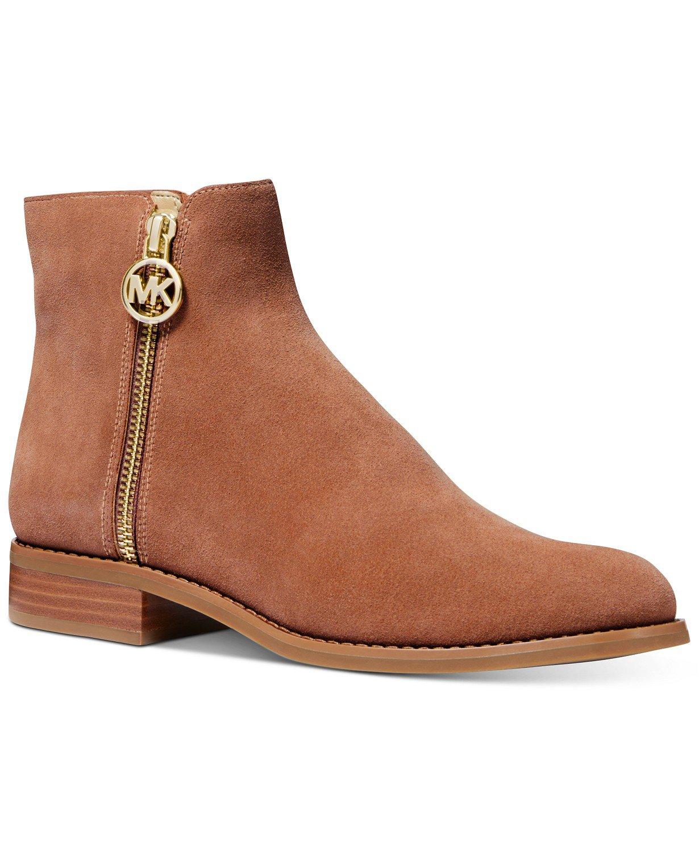 Michael Kors Lainey Flat Booties & Reviews - Flats - Shoes - Macy's brown