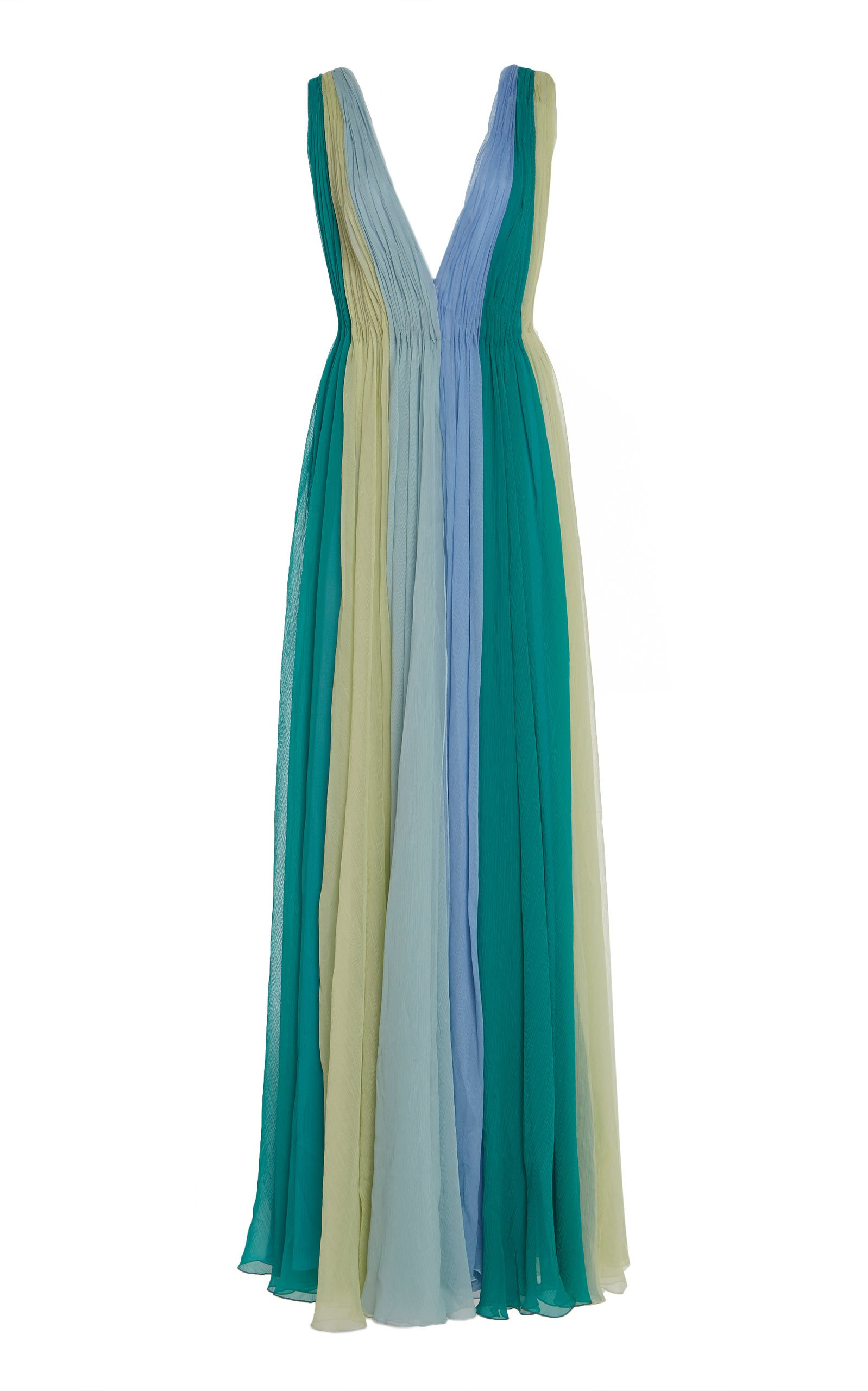 Luisa Beccaria Smocked Silk Gown