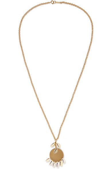 Isabel Marant | Gold-tone and shell necklace | NET-A-PORTER.COM