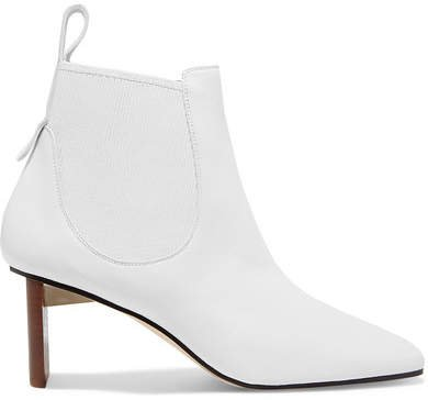 Blade Leather Ankle Boots - White