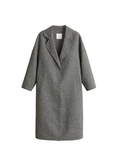 MANGO Combined herringbone coat