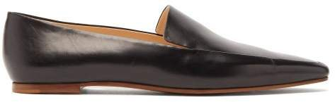 Minimal Leather Loafers - Womens - Black