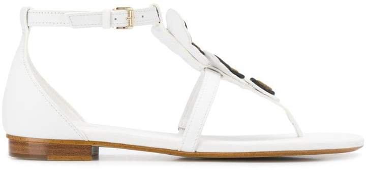 butterfly appliqué thong sandals