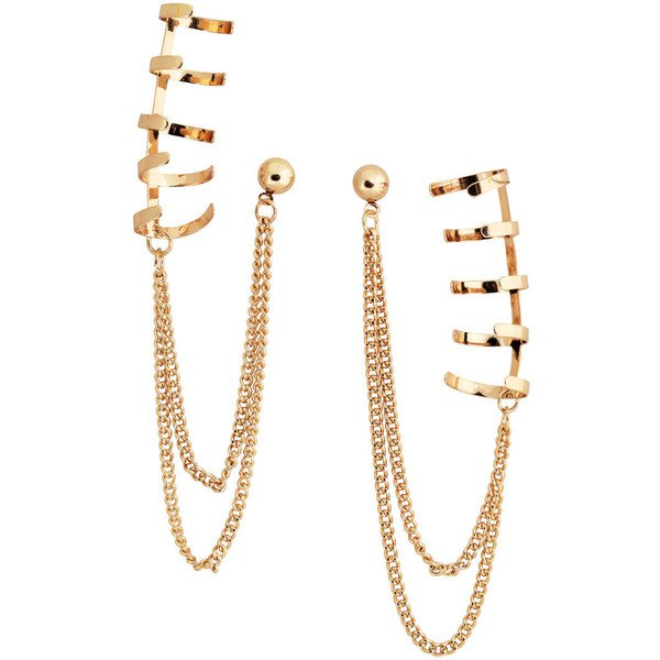 gold ear cuffs polyvore - Pesquisa Google