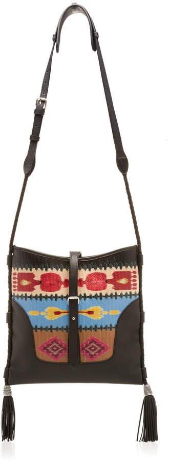 Etro Printed Leather Panel Crossbody Bag