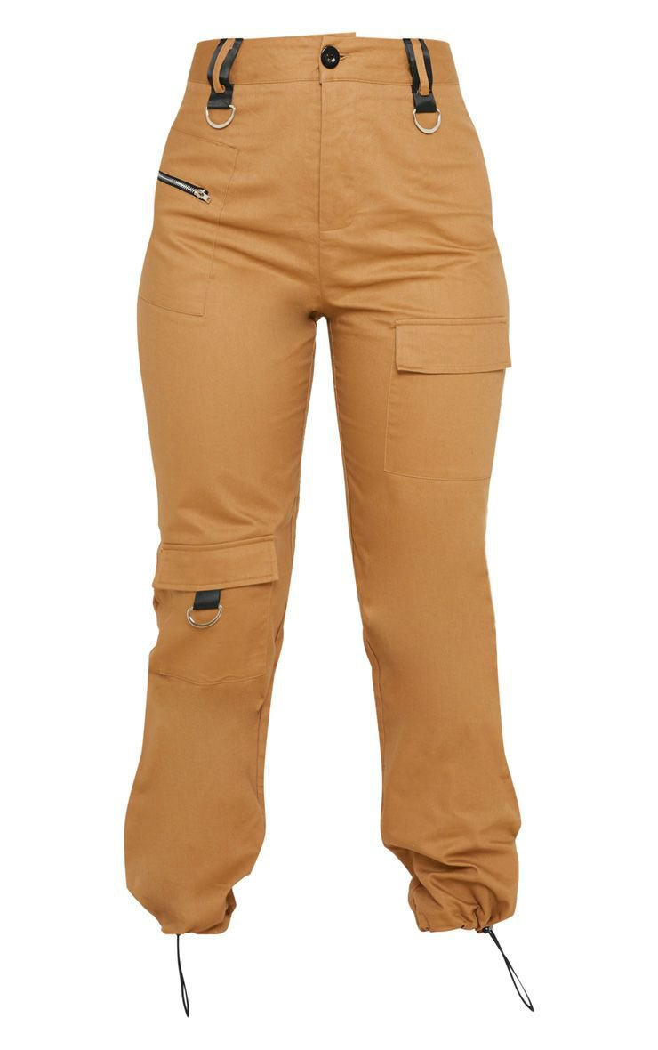 Tan Pocket Detail Cargo Trouser   Trousers   PrettyLittleThing