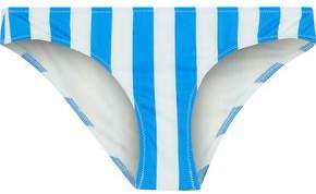 The Elle Striped Low-rise Bikini Briefs