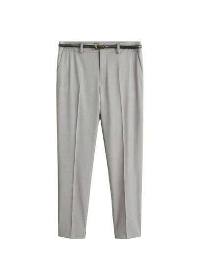 MANGO Belt straight-fit trousers