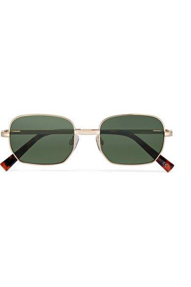 Le Specs | The Flash square-frame gold-tone sunglasses | NET-A-PORTER.COM