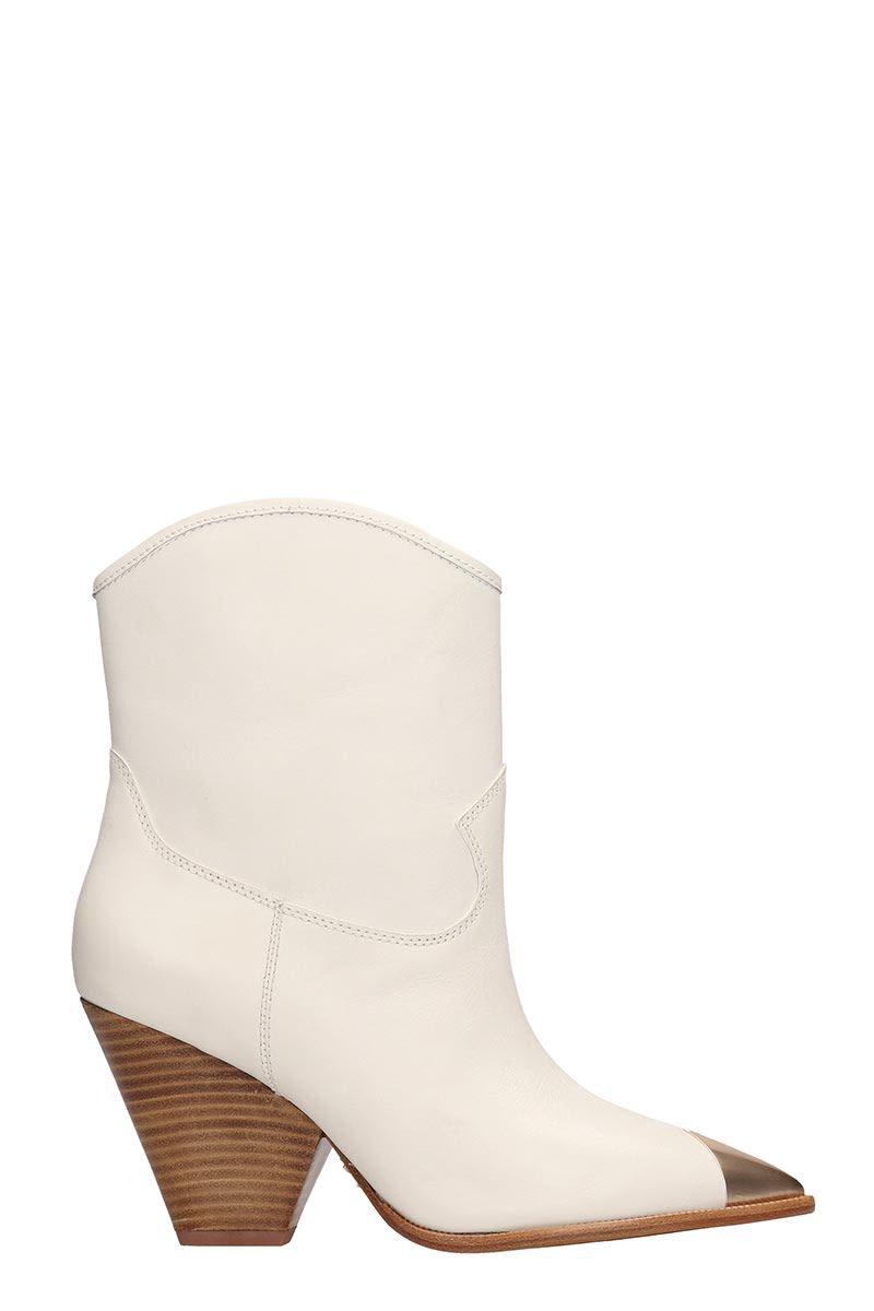 Lola Cruz White Leather Texan Boots