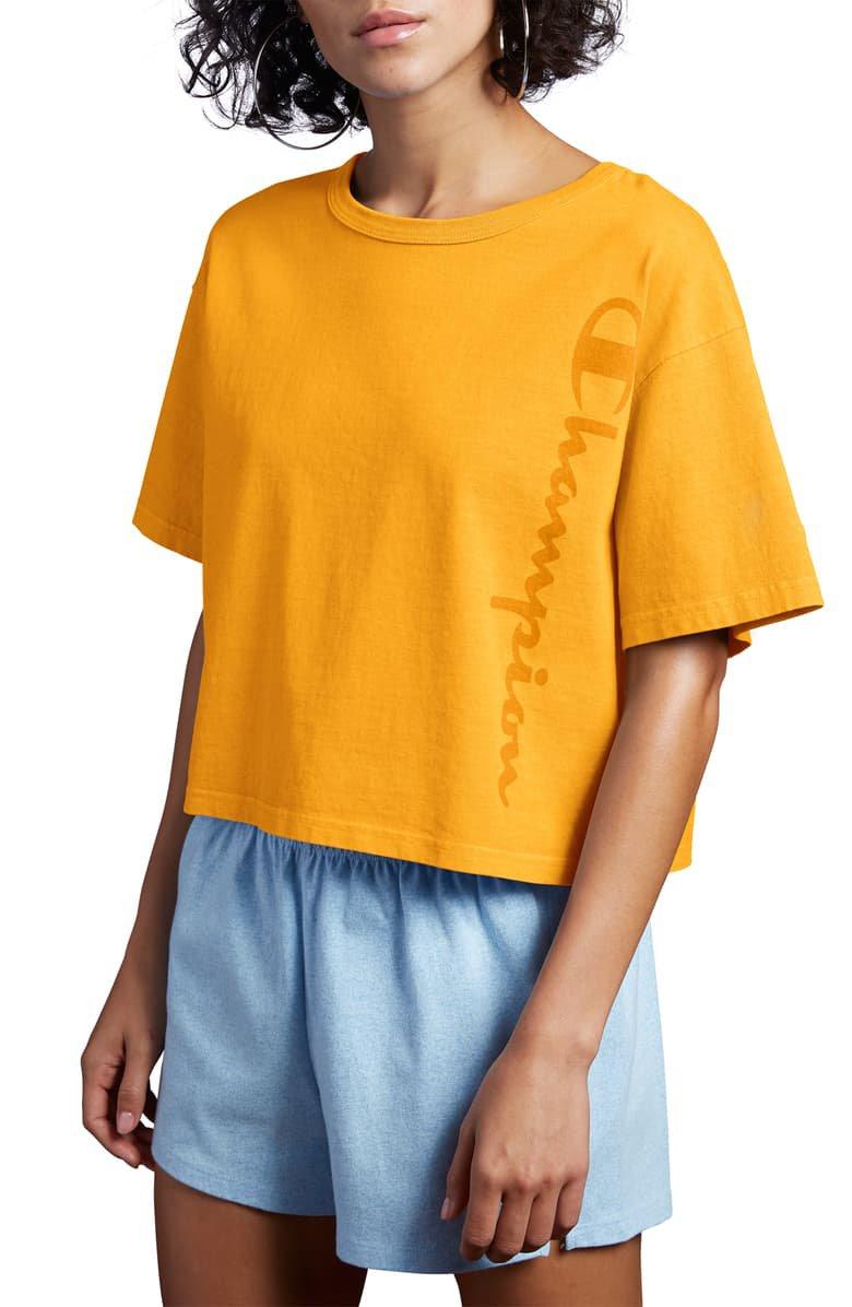 Champion Garment Dye Crop Tee | Nordstrom