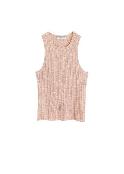 MANGO Metallic knit top