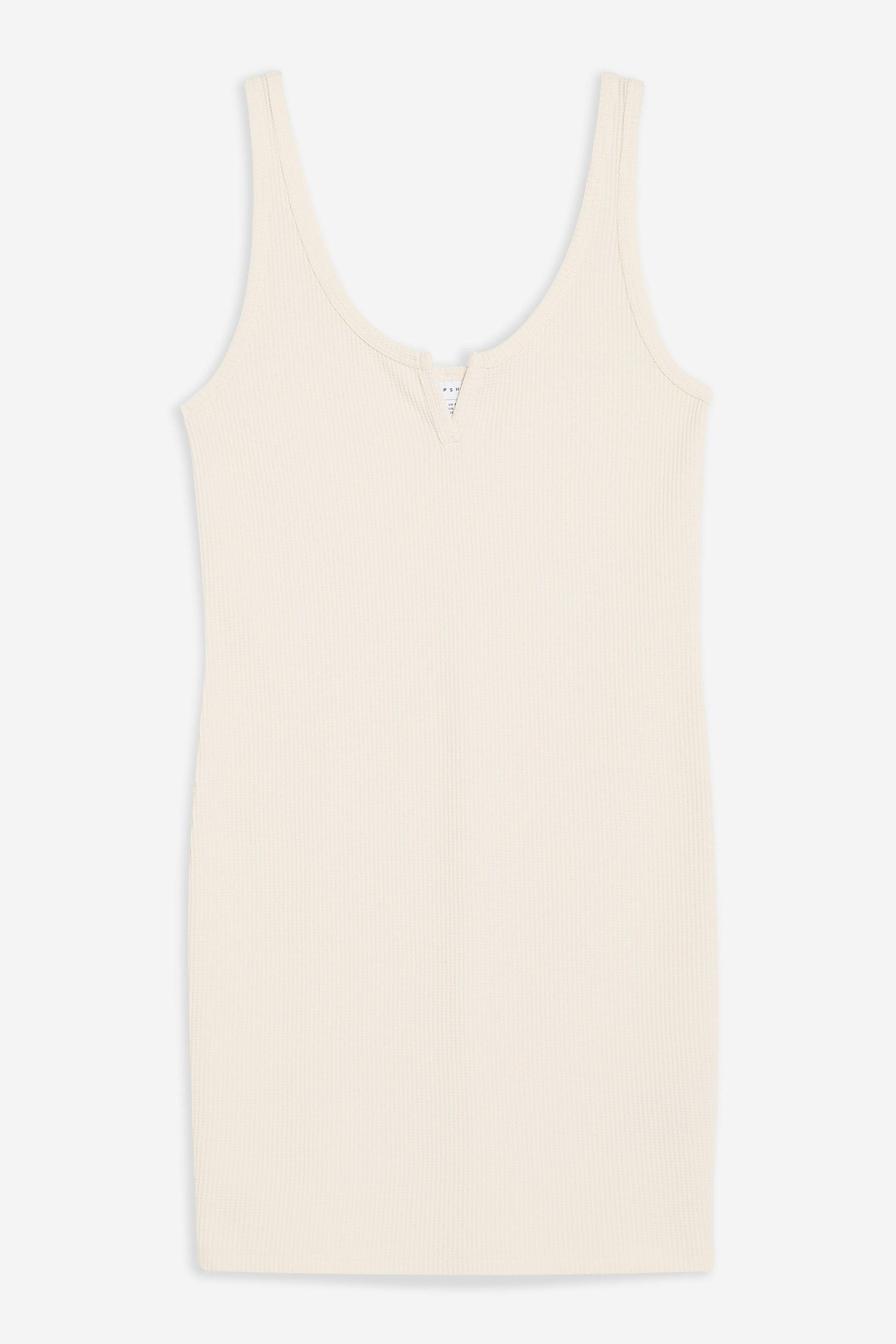 Waffle Notch Bodycon Dress | Topshop