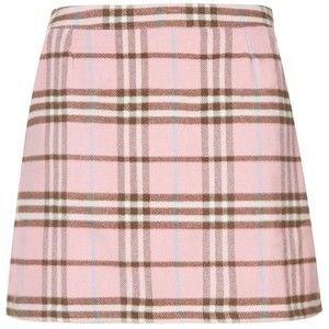 Cameo Rose Pink Tartan Mini Skirt