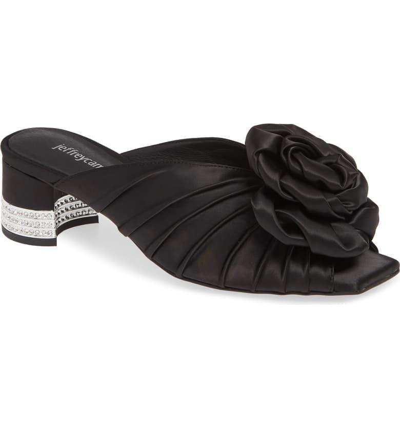 Jeffrey Campbell Rosette Crystal Embellished Slide Sandal (Women) | Nordstrom