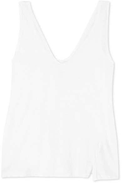 Organic Cotton-jersey Tank - White