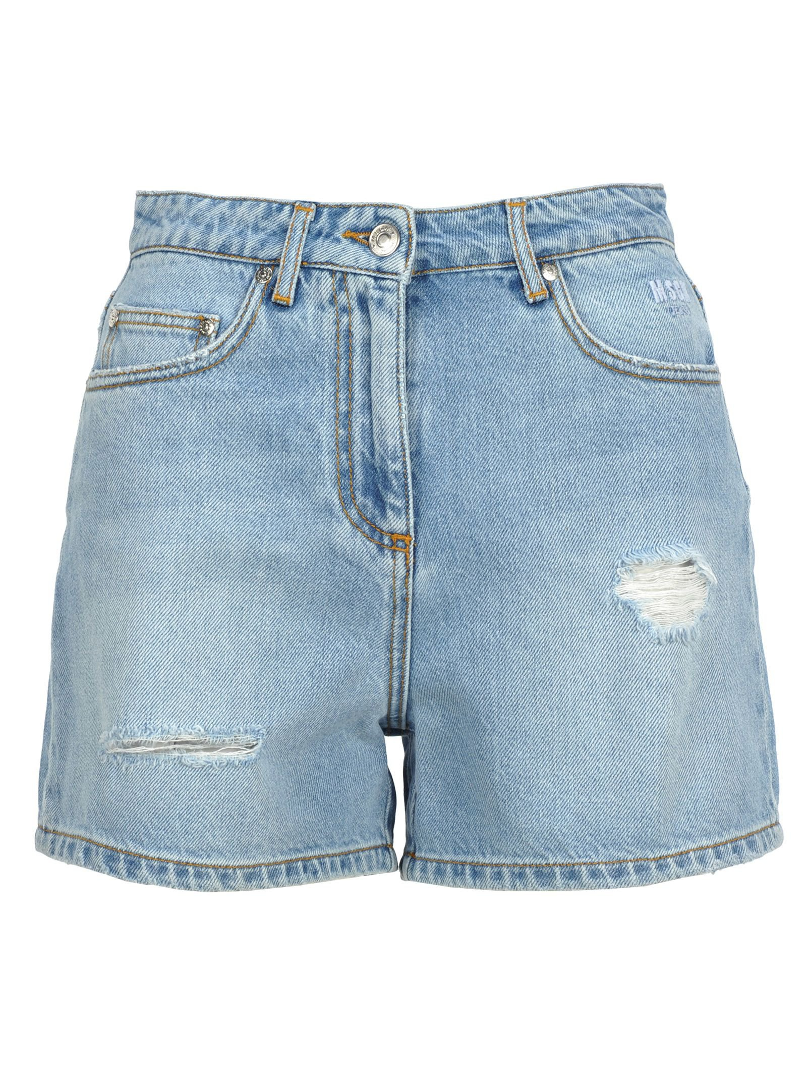 Msgm Msgm Distressed Denim Shorts