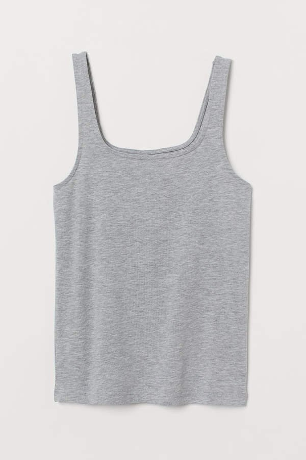 Cotton Jersey Tank Top - Gray