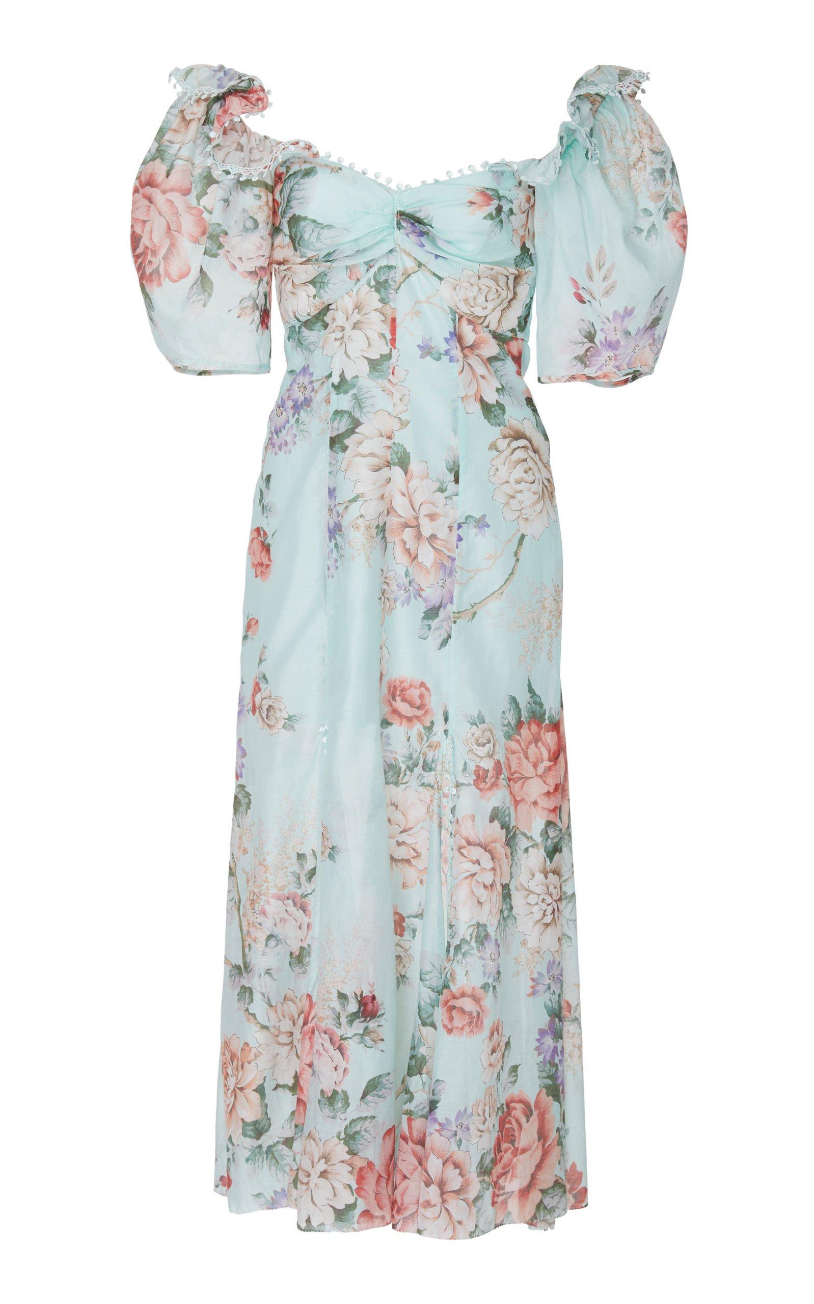 Send Me A Postcard Floral Silk Midi Dress by Alice McCall | Moda Operandi