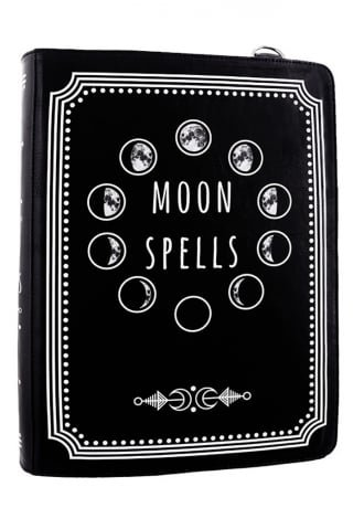 RESTYLE Moon Spells Gothic Book Bag