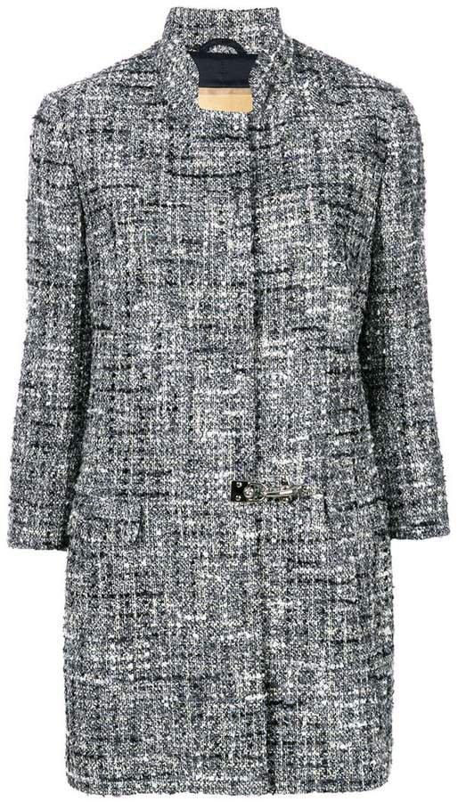 tweed flip-lock coat